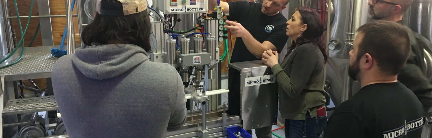 The MicroBottler can run on CO2 or a combination of CO2 and compressed air